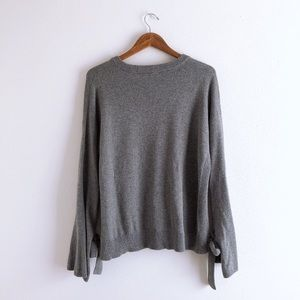 Madewell Sweaters - NWT Madewell Tie-Cuff Gray Sweater Pullover